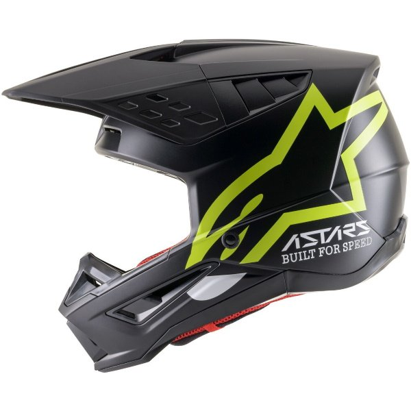 Alpinestars S-M5 Compass Helmet Matt Black Yellow Flo Size: S