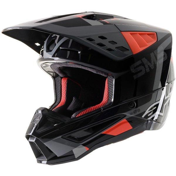 S-M5 Rover Helmet Anthracite Red Fluo Grey Camo Alpinestars Helmets