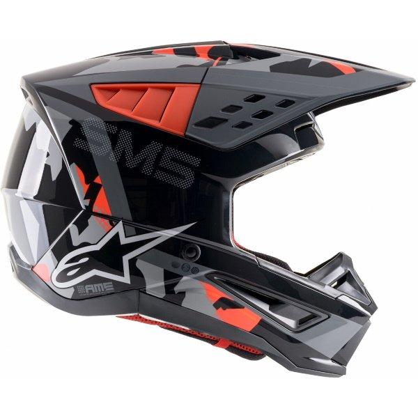 Alpinestars S-M5 Rover Helmet Anthracite Red Fluo Grey Camo Size: S