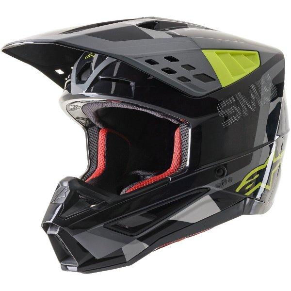 Alpinestars S-M5 Rover Helmet Anthracite Yellow Fluo Grey Ca Size: S