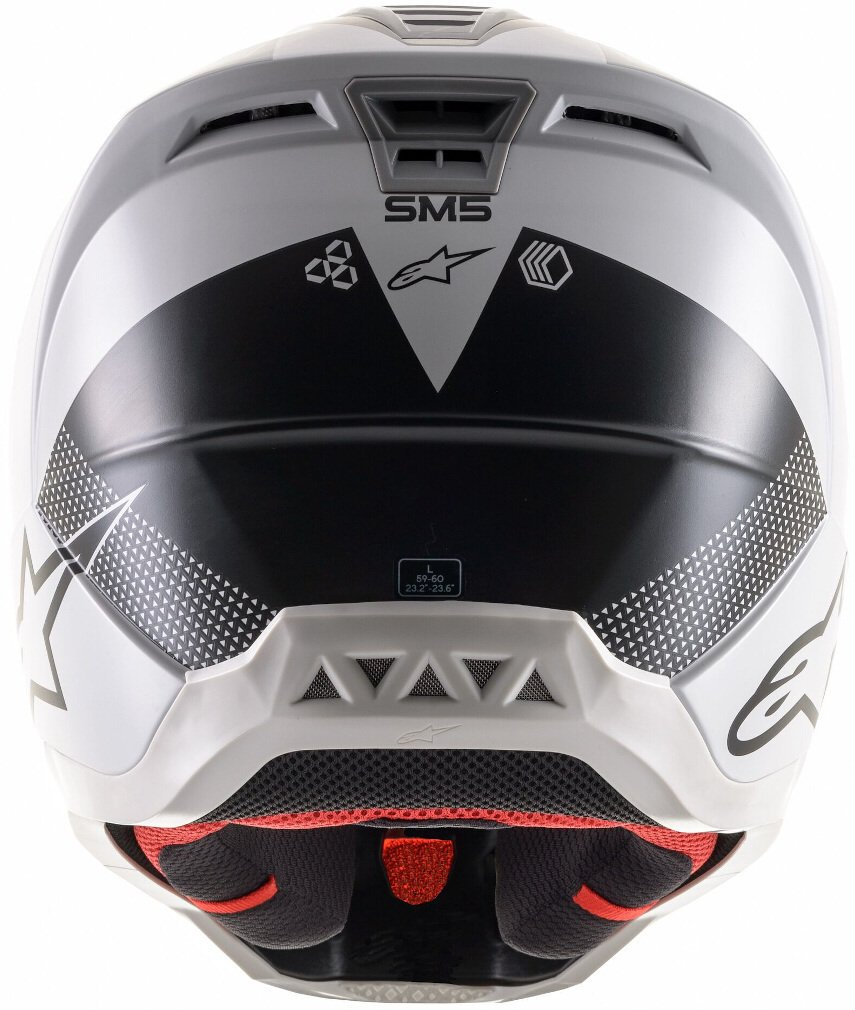 Alpinestars S-M5 Rayon Helmet Matt Light Grey Black Silver Size: S