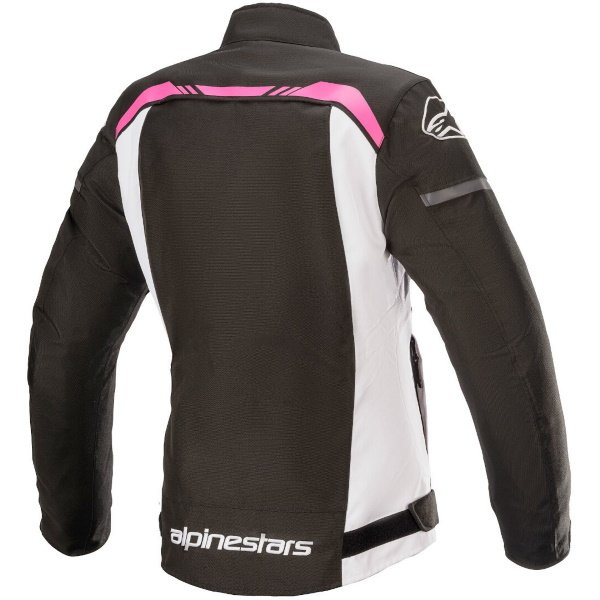 Alpinestars Stella T-SP S Ladies Black White Fuchsia Waterproof Motorcycle Jacket Back