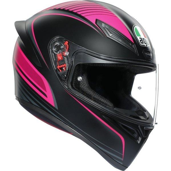 AGV K1 Warm Up Helmet Black Pink Size: XS