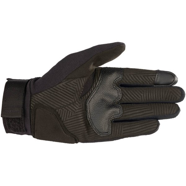Alpinestars Reef Womens Black Reflective Motorcycle Gloves Palm