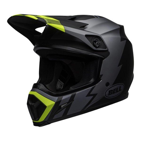 MX-9 Mips Strike Helmet Matt Grey Black Hi Viz Motocross
