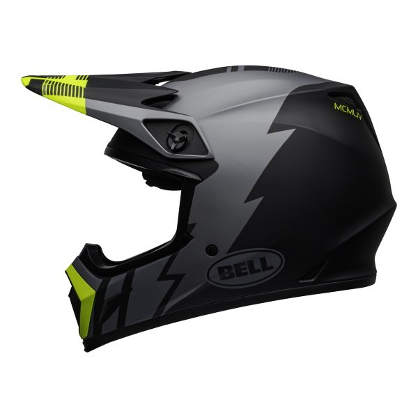 Bell MX-9 Mips Strike Helmet Matt Grey Black Hi Viz Size: S