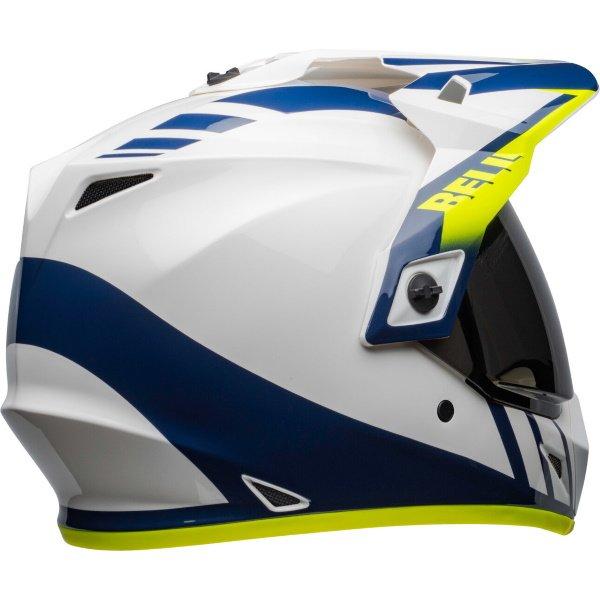 Bell MX-9 Adventure Mips Dash Helme White Blue Hi Viz Size: S
