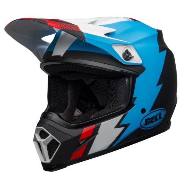 MX-9 Mips Strike Helmet Matt Black Blue White Motocross