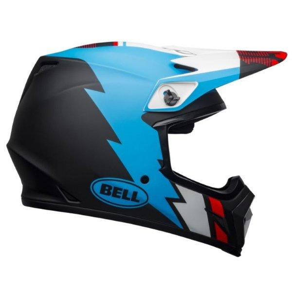 Bell MX-9 Mips Strike Helmet Matt Black Blue White Size: S