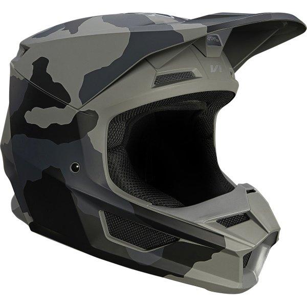 Fox V1 Trev Helmet Black Camo Size: S