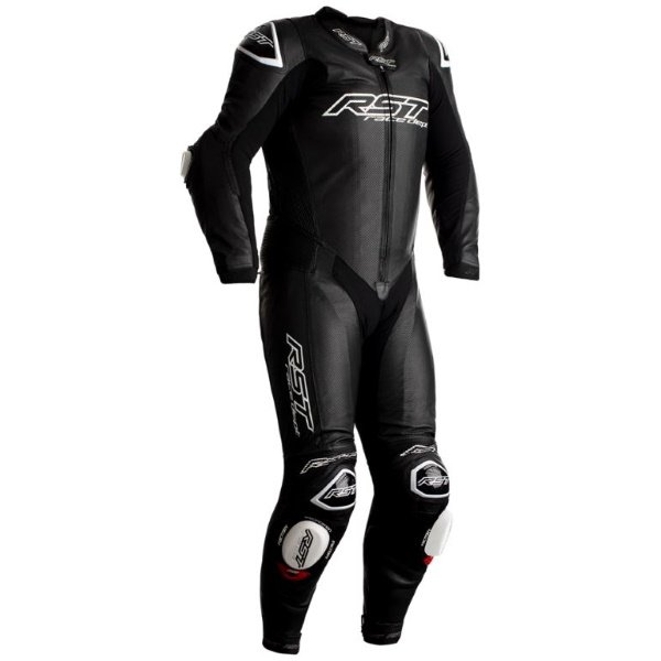 RST V4.1 Kangaroo Mens Black Leather Airbag Motorcycle Race Suit Front