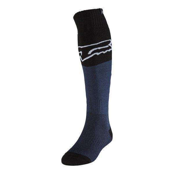 Fox Fri Thin Sock Revn Blue Stl Size: S