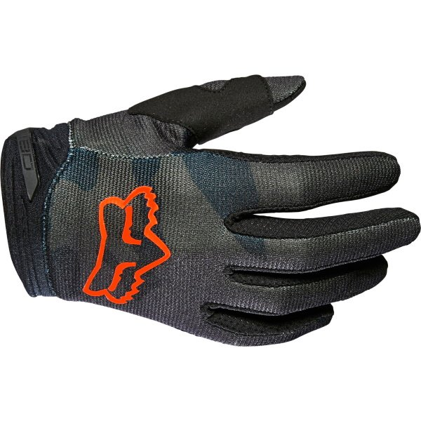 Fox Youth 180 Trev Gloves Black Camo Youth - XS