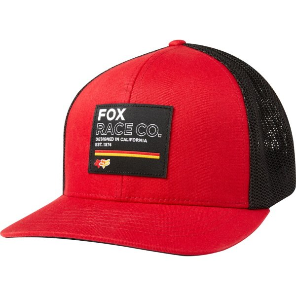 Fox Analog Flexfit Hat Chili Size: S-M