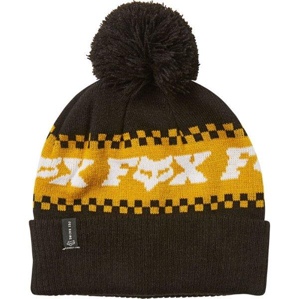 Fox Overkill Black Yellow Beanie