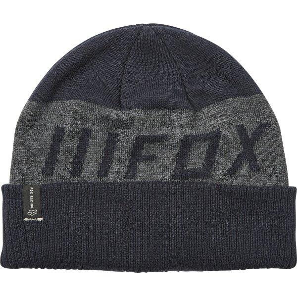 Fox Down Shift Navy Grey Beanie Front