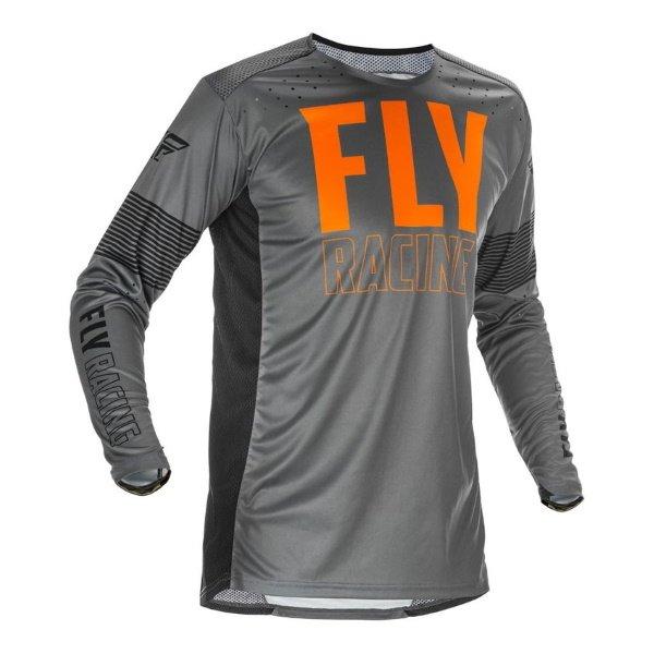 Fly Lite Jersey Grey Orange Black Size: Mens UK - S