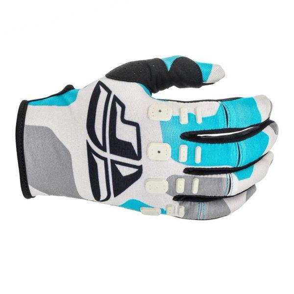 Kinetic K221 Gloves Grey Blue Fly