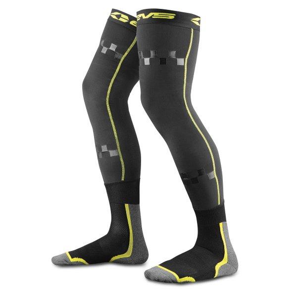 EVS TUG - Fusion Knee Brace Combo Black Hi-Viz Yellow Youth Black Hi-Viz Yellow Youth