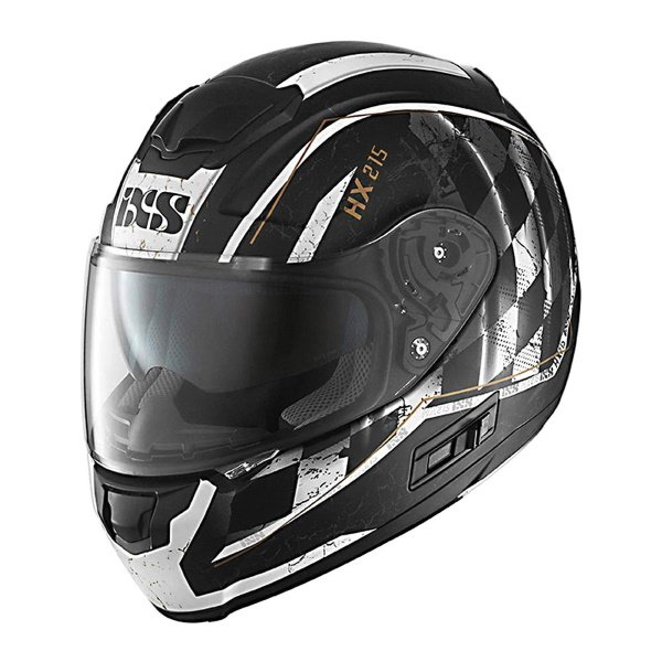 HX 215 Speed Race Helmet Matt Black White