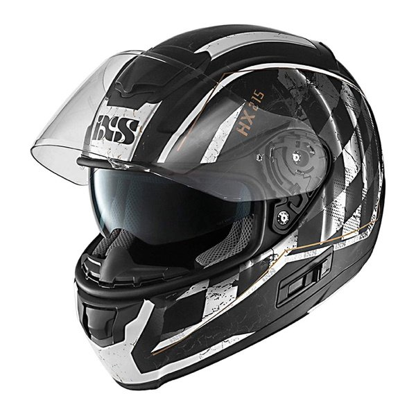 IXS HX 215 Speed Race Helmet Matt Black White Size: XS