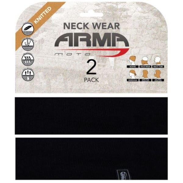 Seamless Neck Tube 2 Pack Black Clothing