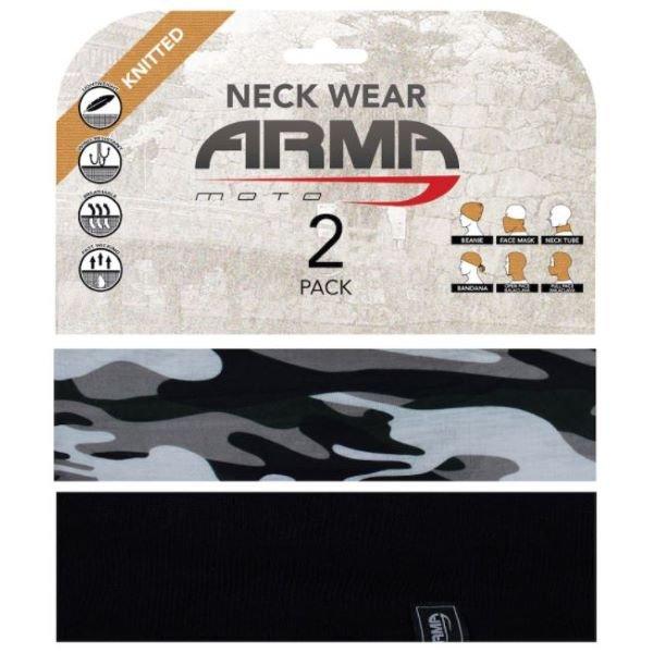ARMR Seamless Neck Tube 2 Pack Camo Black Camo Black