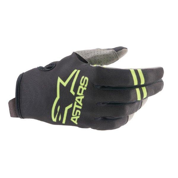 Alpinestars Radar Gloves Black Green Fluo Size: Mens - M