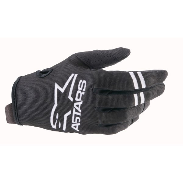 Radar Gloves Black White