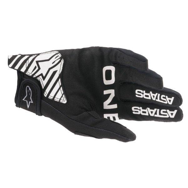 Alpinestars Radar Gloves Black White Size: Mens - M