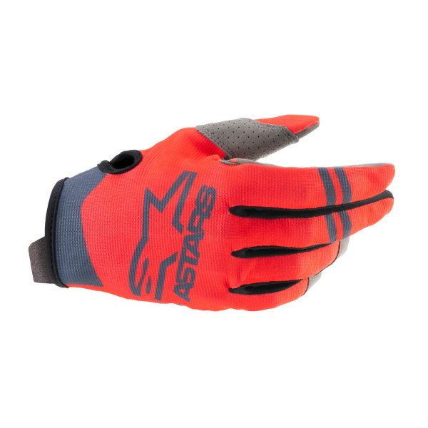 Alpinestars Radar Gloves Red Fluo Anthracite Size: Mens - M