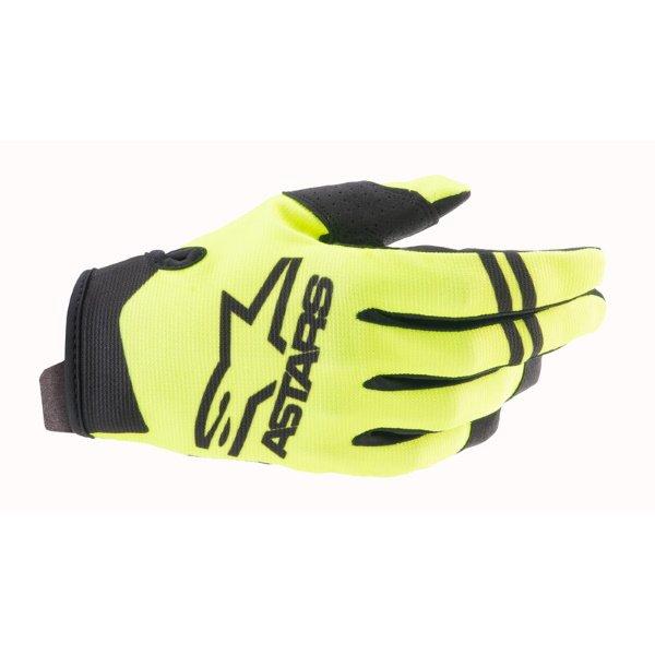 Alpinestars Radar Gloves Yellow Fluo Black Size: Mens - M