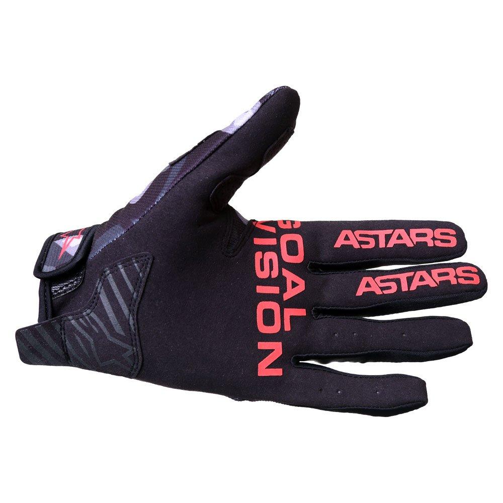 Alpinestars Radar Gloves Grey Camo Red Fluo Size: Mens - M
