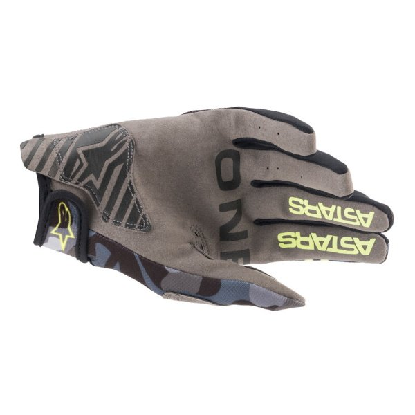 Alpinestars Radar Gloves Grey Camo Yellow Fluo Size: Mens - M