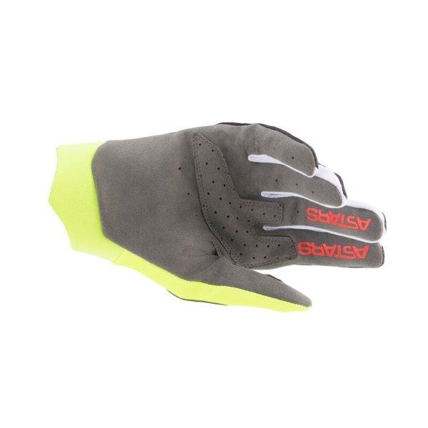 Alpinestars Dune Gloves Black Yellow Flo Bright Red Size: Mens - M