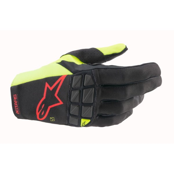 Alpinestars Racefend Gloves Black Yellow Flo Red Flo Size: Mens - M