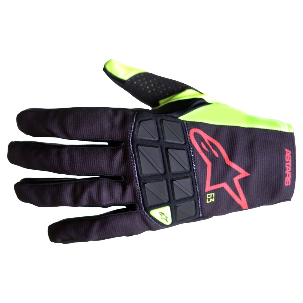 Racefend Gloves Black Yellow Flo Red Flo Motocross Gloves