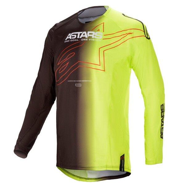 Alpinestars Techstar Phantom Jersey Black Yellow Flo Size: Mens UK - M
