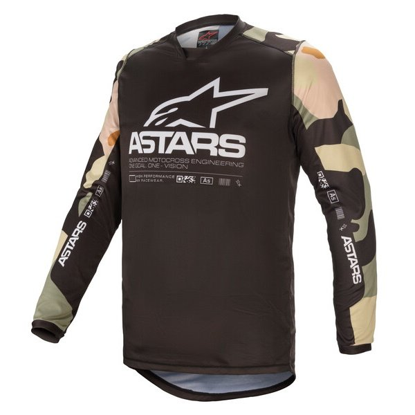 Alpinestars Racer Tactical Jersey Desert Camo White Size: Mens UK - M