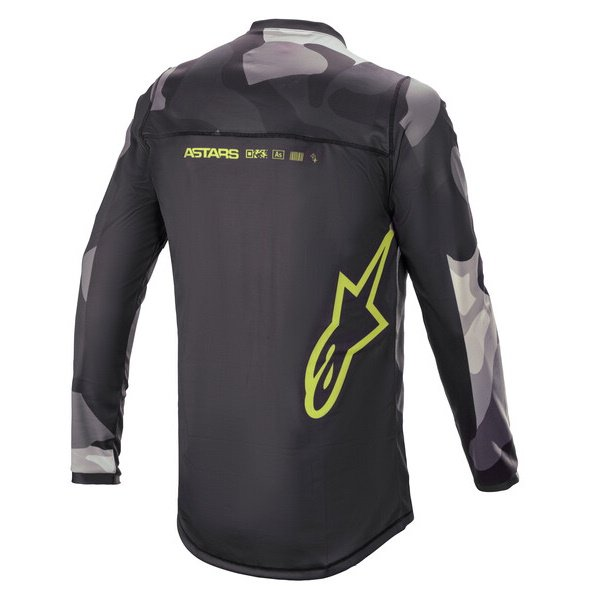Alpinestars Racer Tactical Jersey Grey Camo Yellow Fluo Size: Mens UK - M
