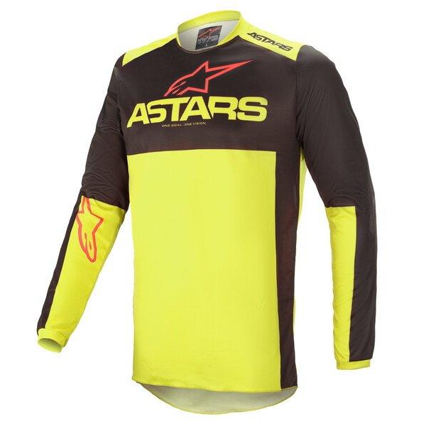 Alpinestars Fluid Tripple Jersey Black Yellow Flo Bright Red Size: Mens UK - M