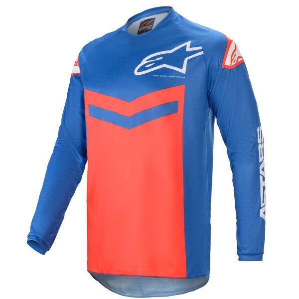 Alpinestars Fluid Speed Jersey Blue Bright Red Size: Mens UK - M