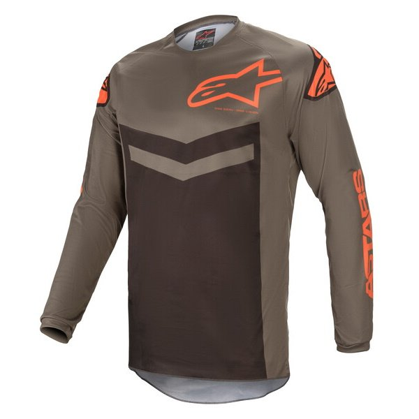 Alpinestars Fluid Speed Jersey Dark Grey Orange Size: Mens UK - M
