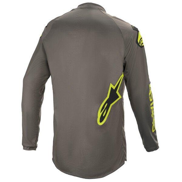 Alpinestars Fluid Speed Jersey Dark Grey Yellow Flo Size: Mens UK - M