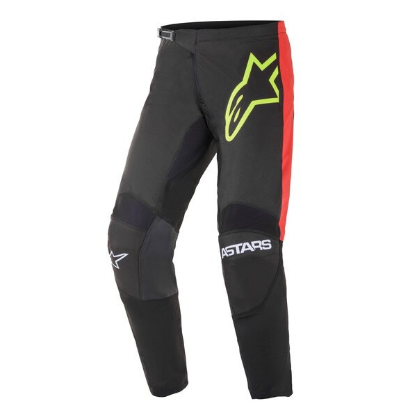 Fluid Tripple Pants Black Yellow Flo Bright Red