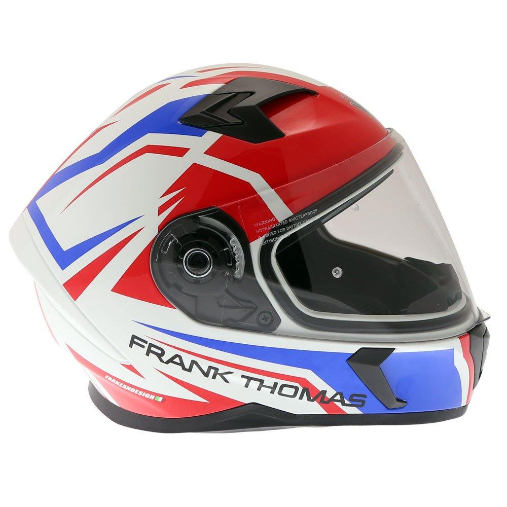 Frank Thomas FT39SV Nautilus Helmet White Red Blue Size: XS