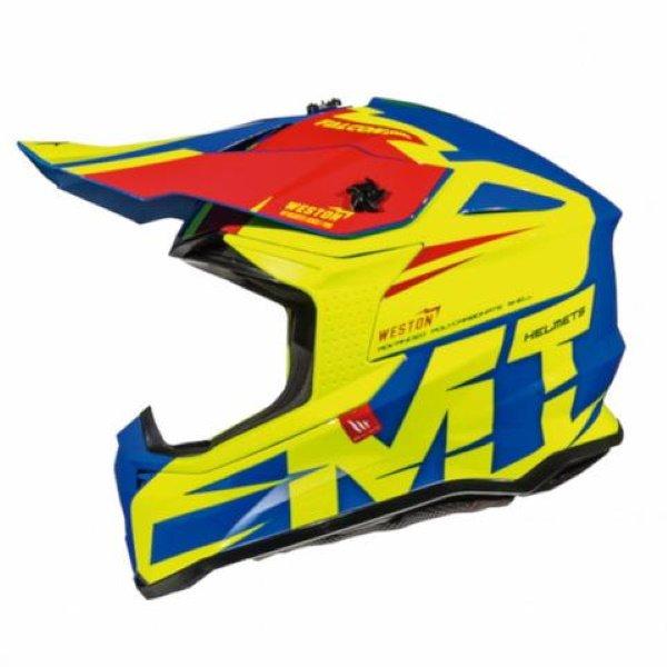 Falcon Weston Helmet Blue Fluo Yellow Red