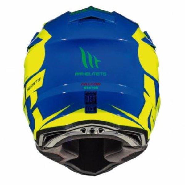 MT Falcon Weston Helmet Blue Fluo Yellow Red Size: XS