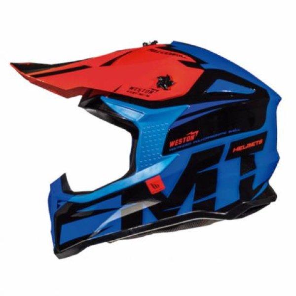 Falcon Weston Helmet Blue Black Red