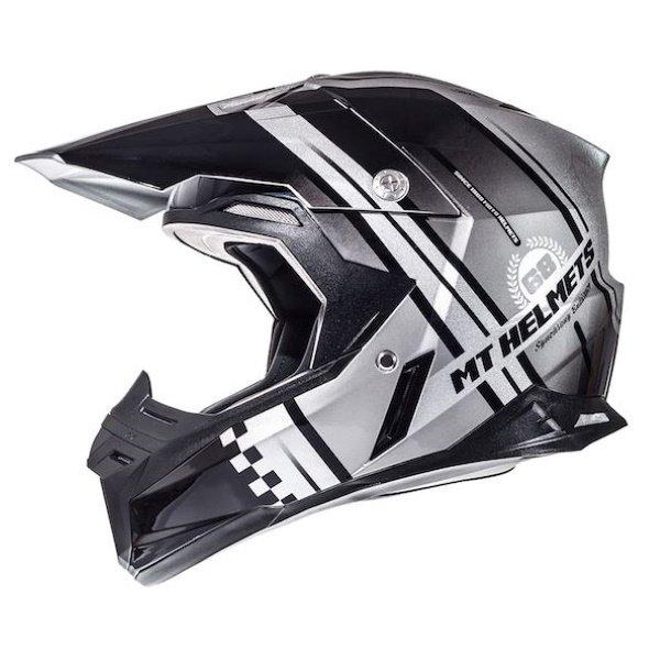 Synchrony Endurance Helmet Anthracite Silver Black MT Helmets Motocross